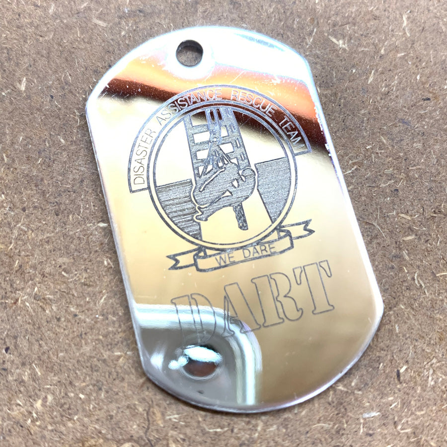 LOGO DOG TAG - STAINLESS STEEL (DART)