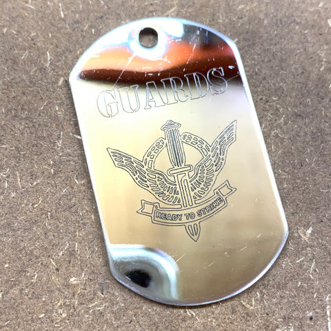 LOGO DOG TAG - STAINLESS STEEL (GUARDS)