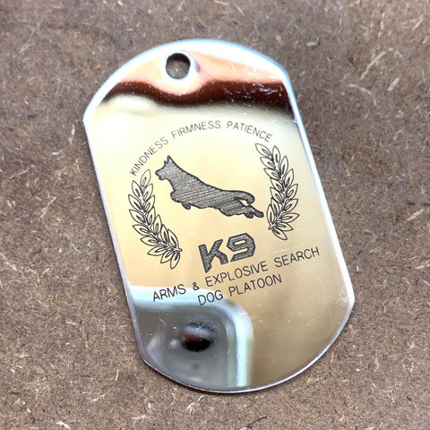 LOGO DOG TAG - STAINLESS STEEL (K9)