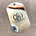 LOGO DOG TAG - STAINLESS STEEL (MEDICAL RESPONSE FORCE)