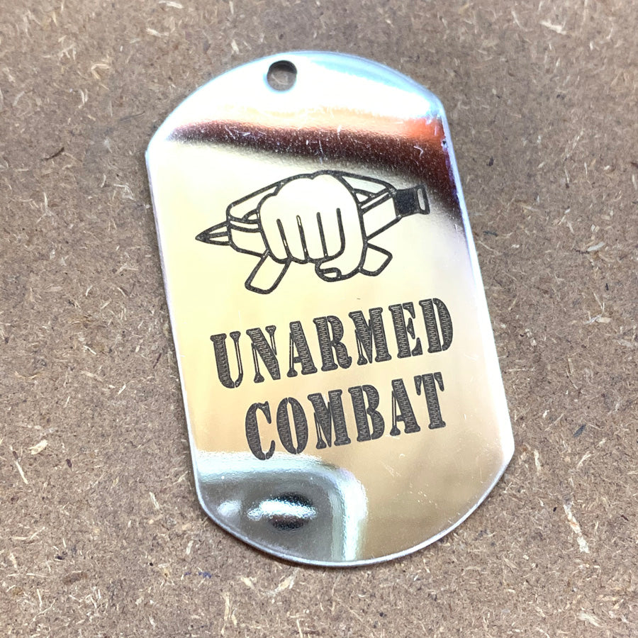 LOGO DOG TAG - STAINLESS STEEL (UNARMED COMBAT)