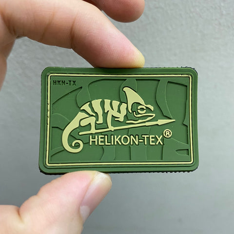 HELIKON-TEX LOGO PATCH - PVC (OLIVE GREEN)