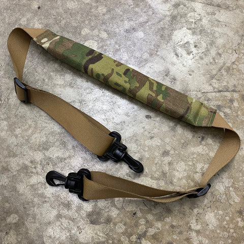 MIL-SPEC PADDED SHOULDER STRAP USING YKK SWIVEL HOOKS - MULTICAM