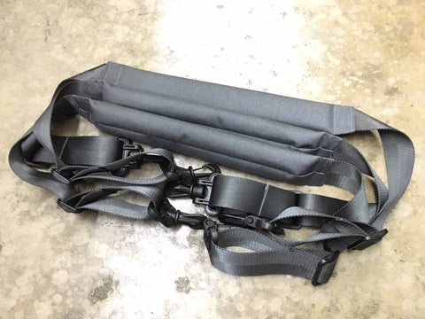 MIL-SPEC PADDED SHOULDER STRAP USING YKK SWIVEL HOOKS - STEEL GRAY