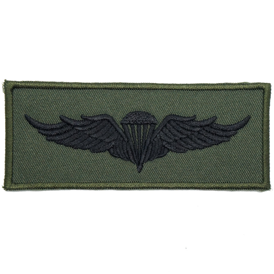 INDONESIA AIRBORNE WING - OD GREEN, GREEN BORDER