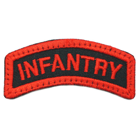 INFANTRY TAB - BLACK RED