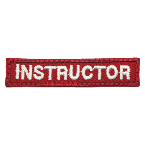 INSTRUCTOR TAG 7CM - RED WHITE