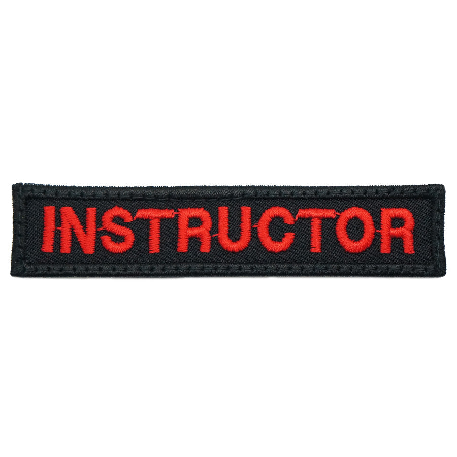 INSTRUCTOR TAG 8CM - BLACK RED