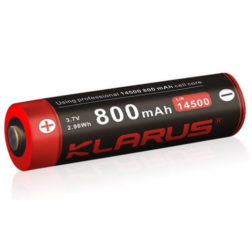 KLARUS 14500 800mAh 3.7V RECHARGEABLE LITHIUM PROTECTED BATTERY