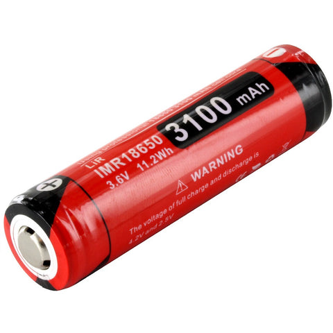 KLARUS 18GT IMR 18650 3100MAH 3.6V PROTECTED HIGH-DRAIN 12A LITHIUM MANGANESE BATTERY