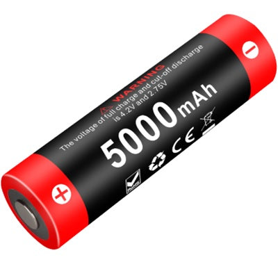 KLARUS 21GT-50 5000mAh 3.6V PROTECTED HIGH-DRAIN 15A LITHIUM BUTTON TOP BATTERY