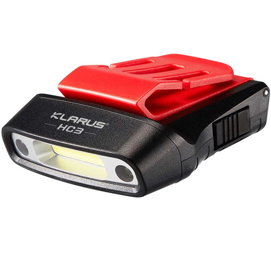 KLARUS HC3 VISOR CLIP MOTION-SENSING RECHARGEABLE HEADLAMP (BUILT-IN BATTERIES) - 100 LUMENS