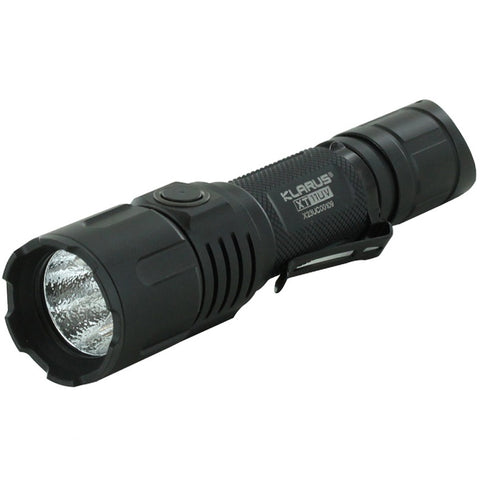 KLARUS XT11UV RECHARGEABLE FLASHLIGHT (18650 INCLUDED) - 900 LUMENS