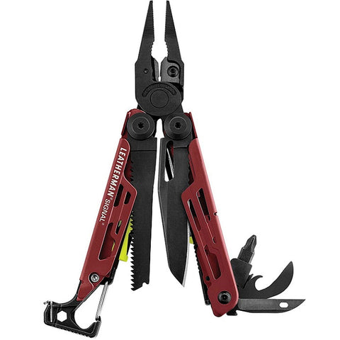 LEATHERMAN SIGNAL WITH STANDARD SHEATH - CRIMSON