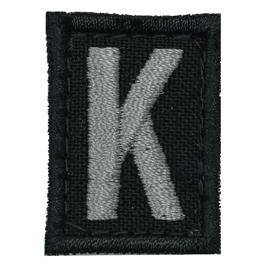 HGS LETTER K PATCH - BLACK FOLIAGE