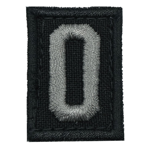 HGS LETTER O PATCH - BLACK FOLIAGE