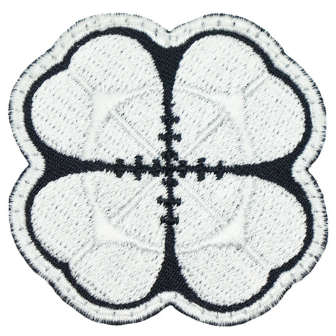 LUCKY CLOVER PATCH - BLACK WHITE