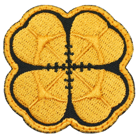 LUCKY CLOVER PATCH - BLACK YELLOW