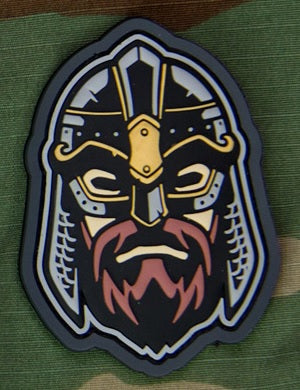 MSM VIKING WARRIOR HEAD 2 MORALE PATCH - FULL COLOR