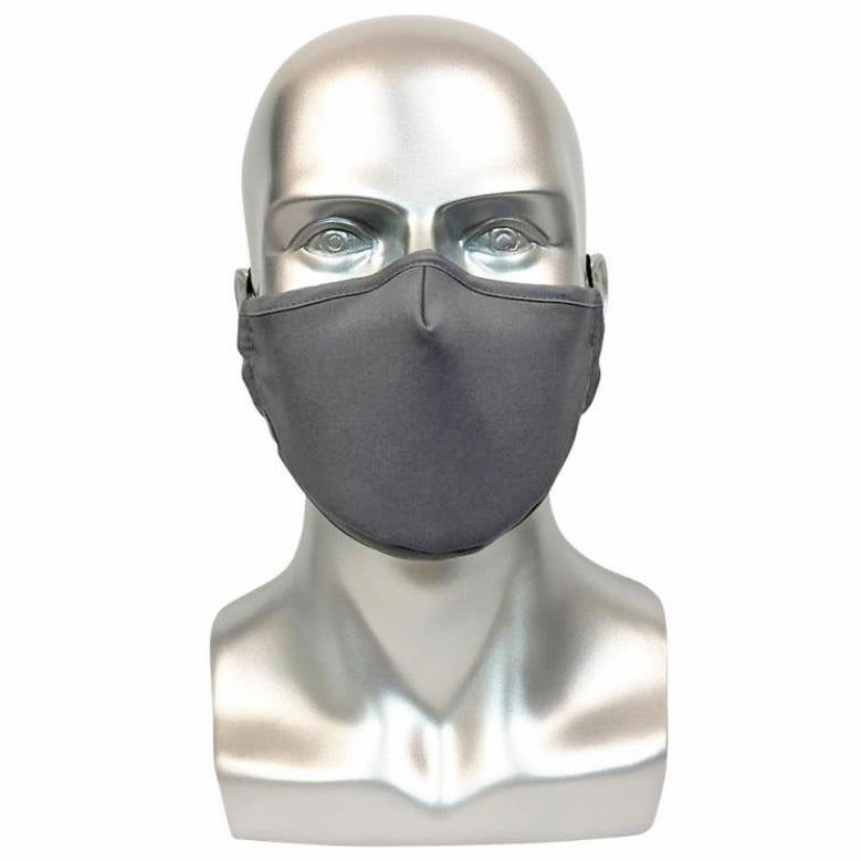 REUSABLE MASK WITH FILTER POCKET - GREY
