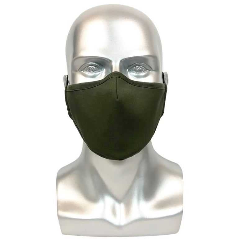 REUSABLE MASK WITH FILTER POCKET - GREEN