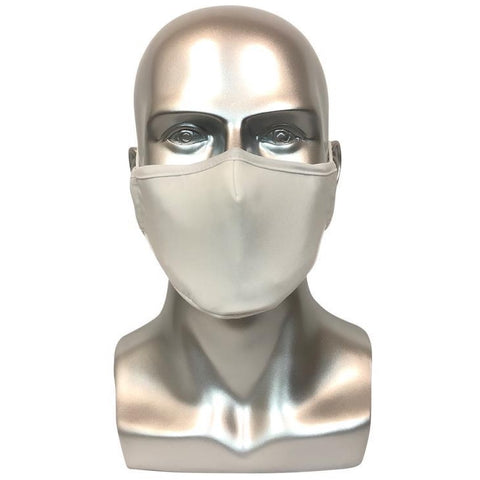 REUSABLE MASK WITH FILTER POCKET - WHITE