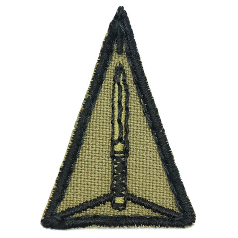 MINI ADF TRIANGULAR PATCH - 3.5CM (OLIVE GREEN)