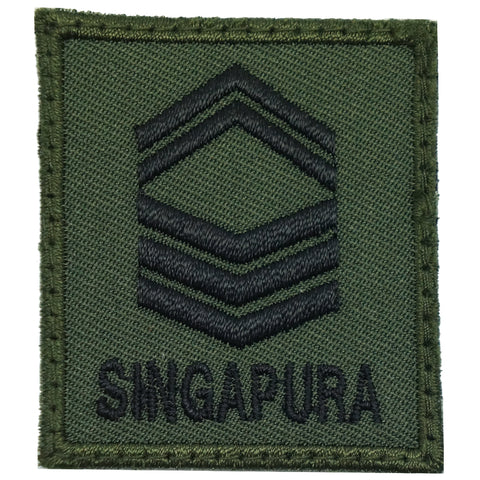 MINI SAF RANK PATCH - 1SG (OD GREEN)