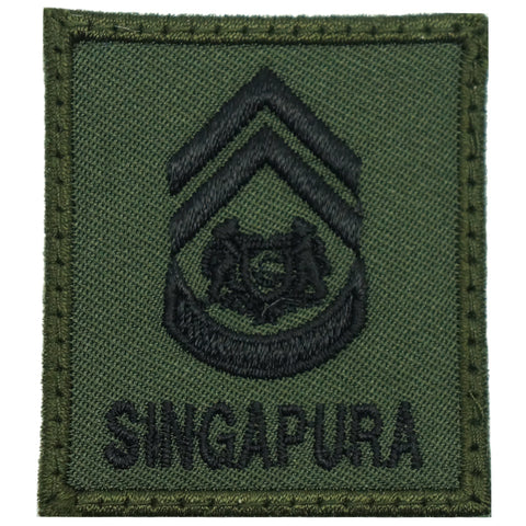 MINI SAF RANK PATCH - 1WO (OD GREEN)