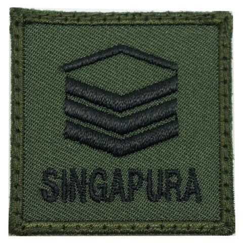MINI SAF RANK PATCH - 2SG (OD GREEN)