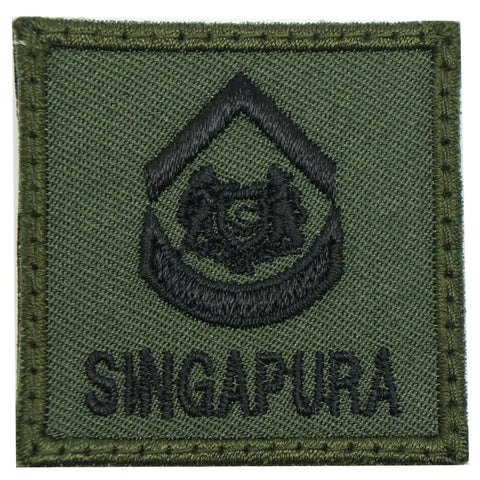 MINI SAF RANK PATCH - 2WO (OD GREEN)