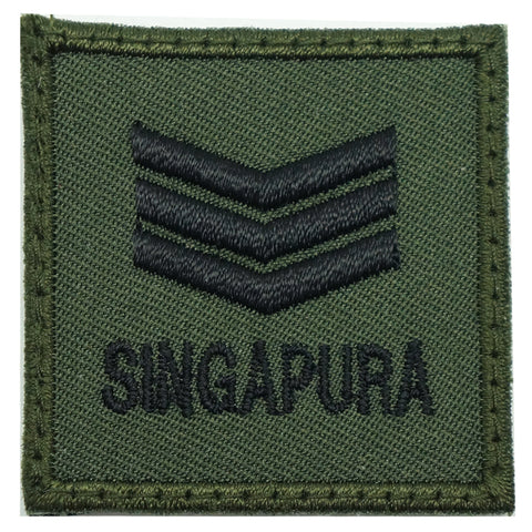 MINI SAF RANK PATCH - 3SG (OD GREEN)