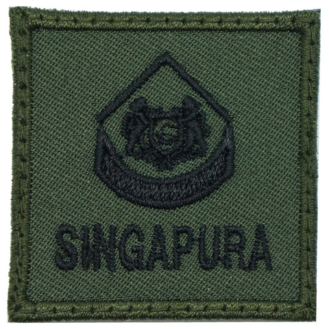 MINI SAF RANK PATCH - 3WO (OD GREEN)