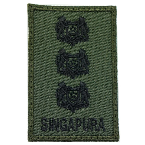 MINI SAF RANK PATCH - COL (OD GREEN)