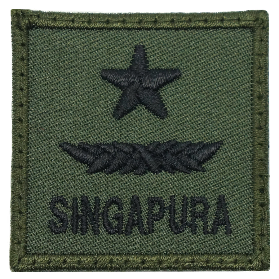 MINI SAF RANK PATCH - BG (OD GREEN)