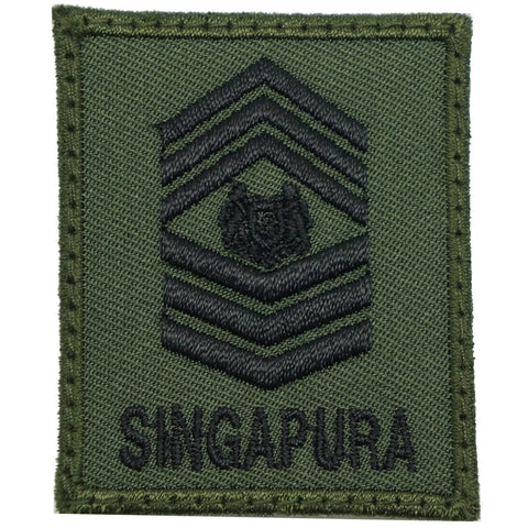 MINI SAF RANK PATCH - MSG (OD GREEN)