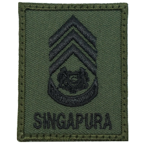 MINI SAF RANK PATCH - MWO (OD GREEN)