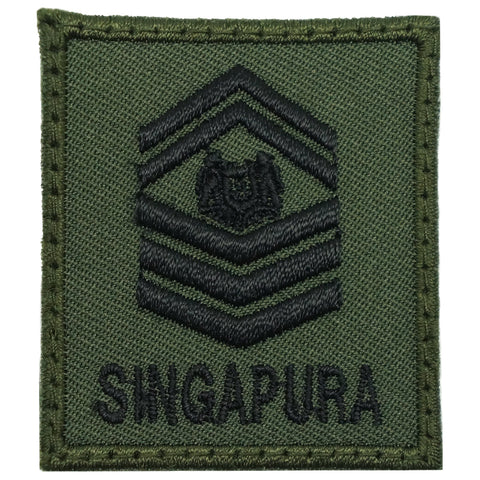 MINI SAF RANK PATCH - SSG (OD GREEN)