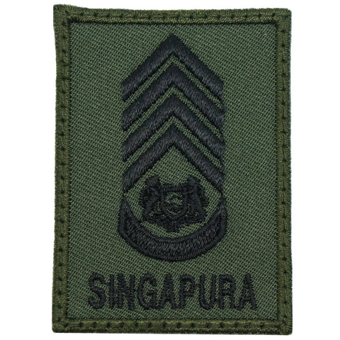 MINI SAF RANK PATCH - SWO (OD GREEN)