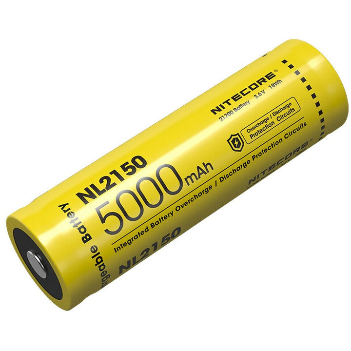 NITECORE NL2150 21700 5000MAH 3.6V PROTECTED LITHIUM ION (LI-ION) BUTTON TOP BATTERY