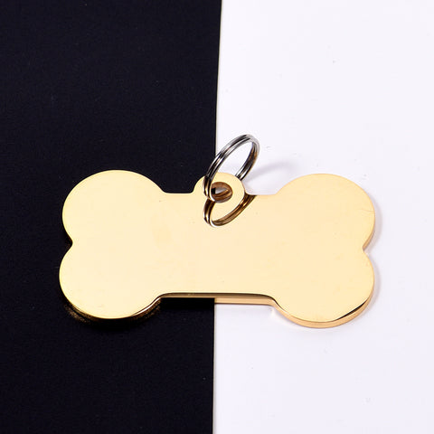 DOG BONE STAINLESS STEEL TAG - 2019 VERSION (GOLD)