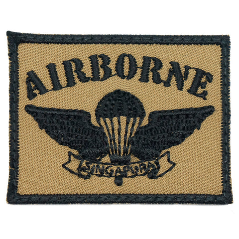 OLD SCHOOL SAF AIRBORNE PATCH - COYOTE BLACK