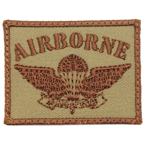 OLD SCHOOL SAF AIRBORNE PATCH - COYOTE BROWN