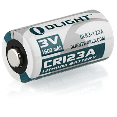 OLIGHT CR123A 3V 1600MAH NON-RECHARGEABLE LITHIUM BATTERY