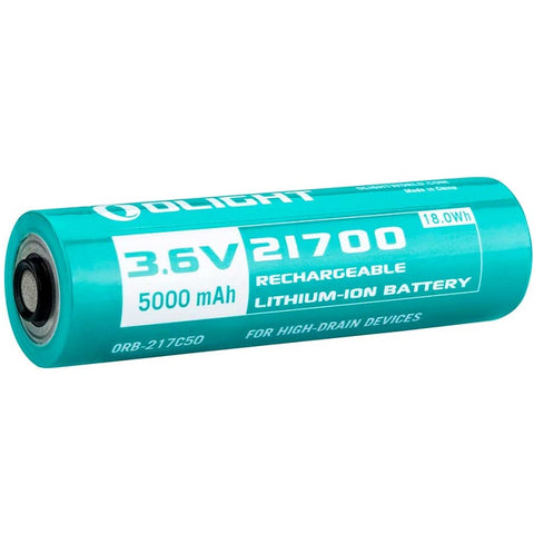 OLIGHT 21700 5000MAH 3.6V PROTECTED HIGH-DRAIN LITHIUM ION BATTERY - FOR SEEKER 2 PRO