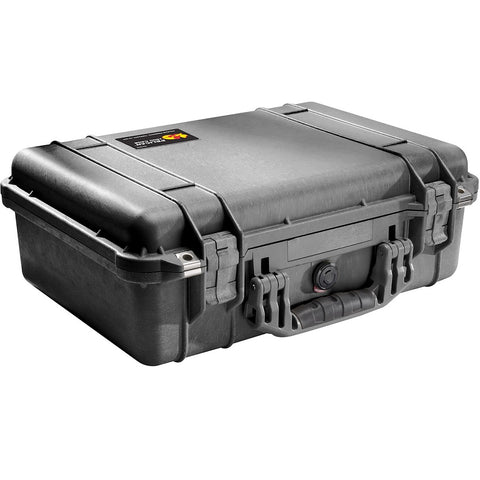 PELICAN 1500 MEDIUM CASE (WITH FOAM) - BLACK