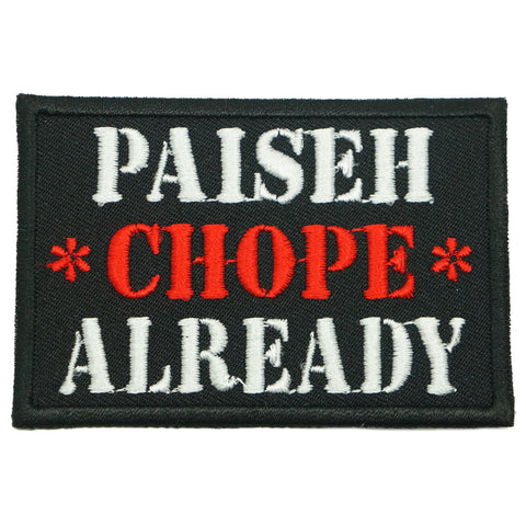 PAISEH CHOPE ALREADY PATCH - BLACK