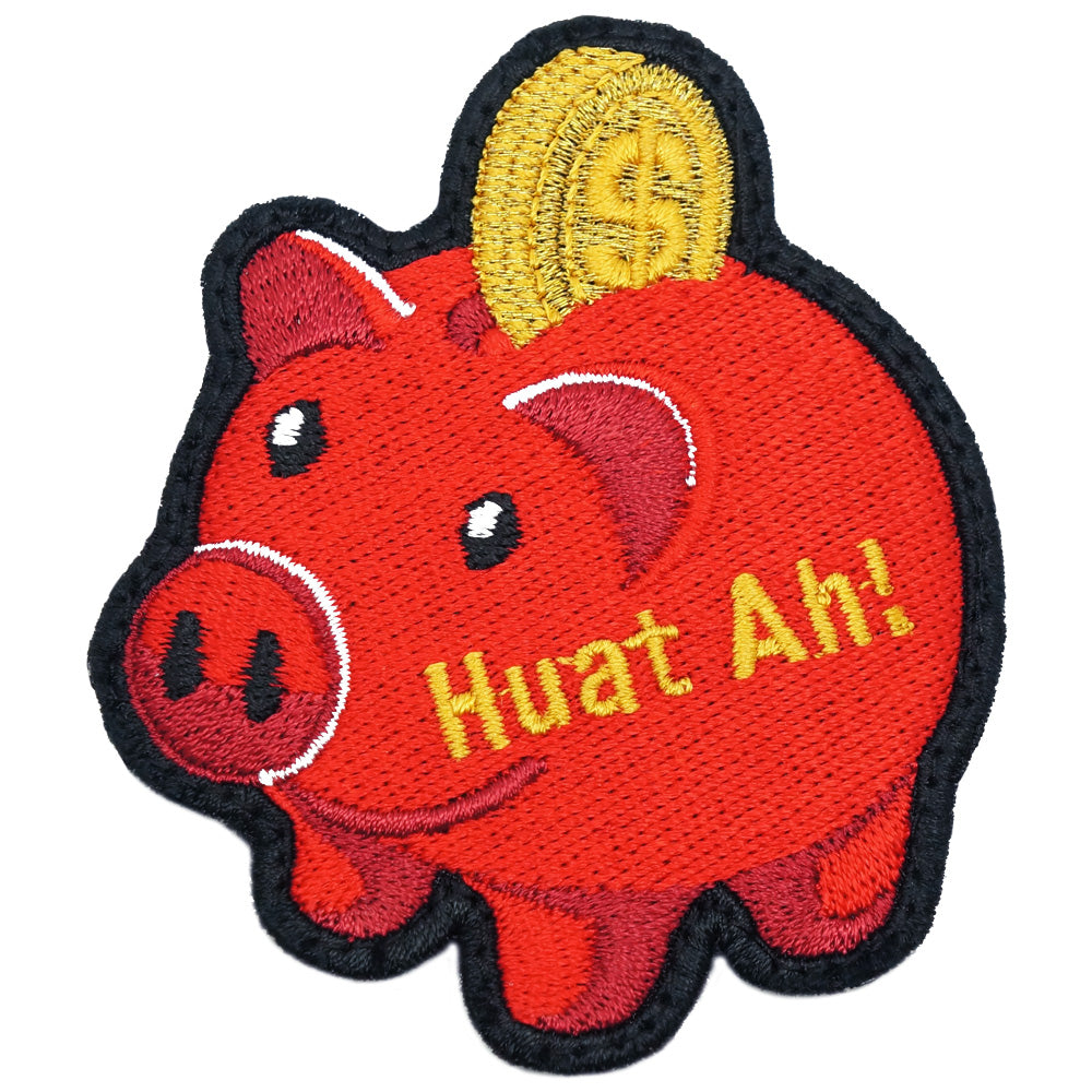 PIGGY BANK PATCH - CNY RED