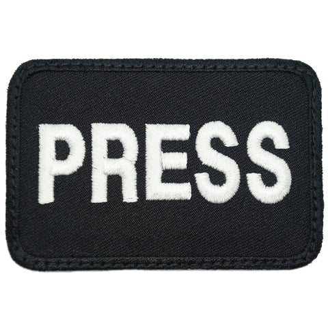 PRESS PATCH - BLACK WHITE