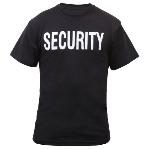 ROTHCO 2-SIDED SECURITY T-SHIRT - BLACK - Hock Gift Shop | Army Online Store in Singapore